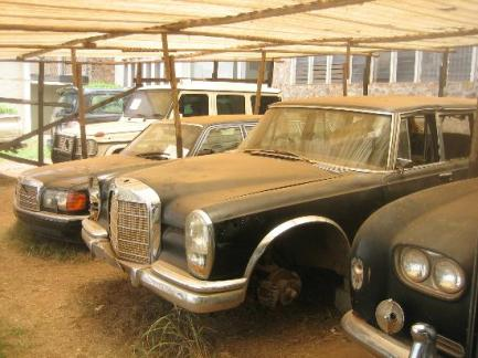 Idi Amin's Mercedes 600 in Centre at a Museum in Uganda