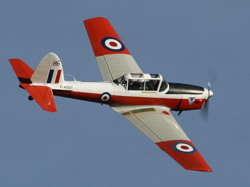 Aircraft of Tintin – deHavilland DHC-1Chipmunk