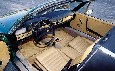 Porsche 914 interior, first safety car of formula1